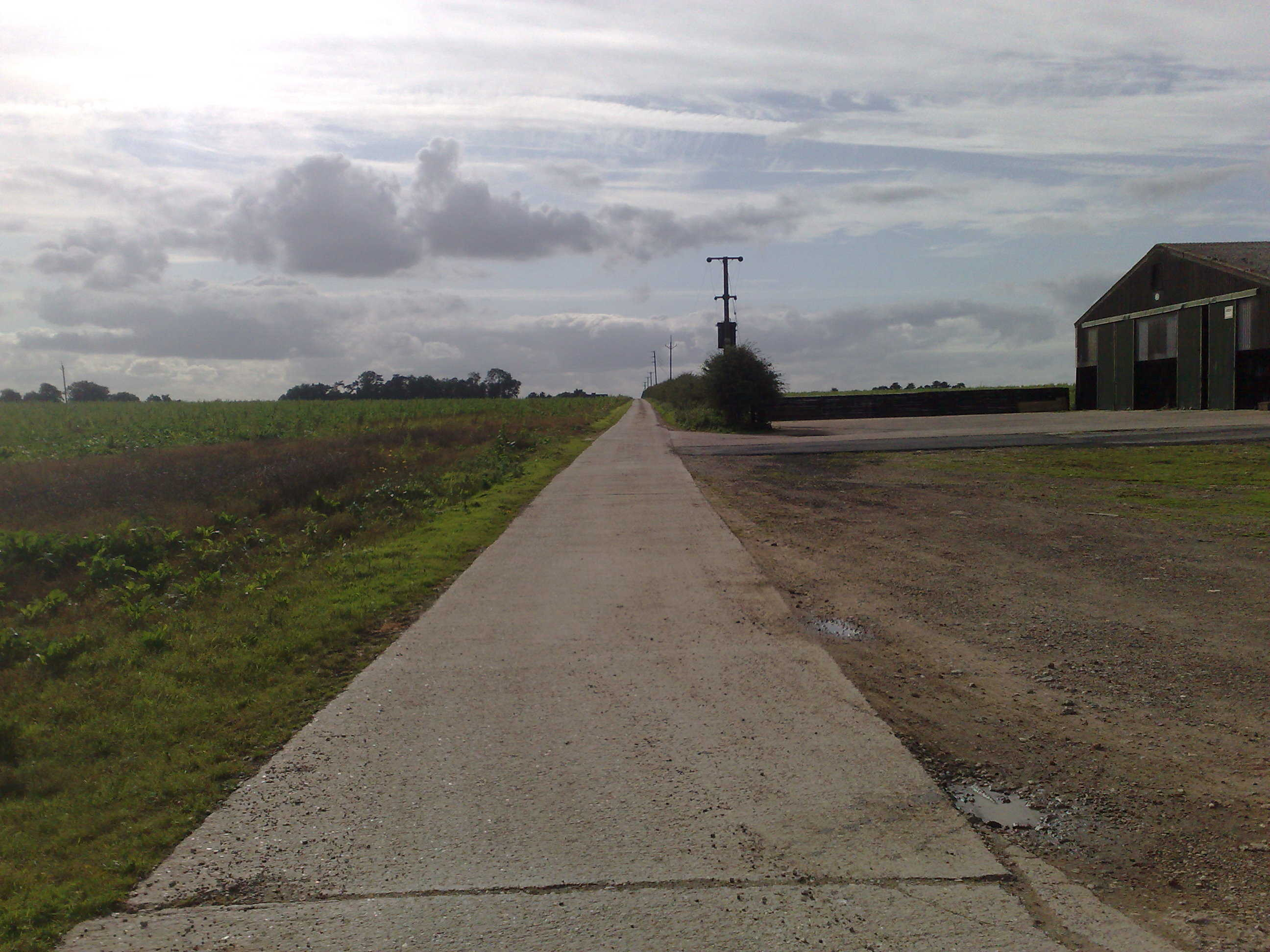 Road Leading to New garage